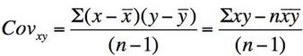 Sample Covariance Formula