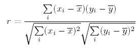 Pearson Correlation Coefficient (r)